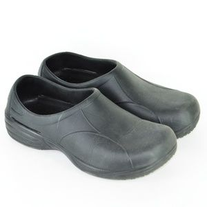 TredSafe Slip Resistant Clogs Black Women 8W/Men 7